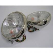 1932 Ford Quartz Headlights - Stainless Steel