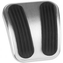 1966-77 Bronco Curved E-Brake Pedal Pad - Alum & Rubber