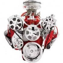 Tru Trac Serp System AC & Alt SB Chevy - Polish Premium