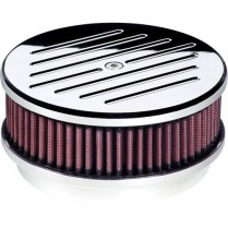 """6-3/8"""" Ball Milled Small Round Polished Air Cleaner"""