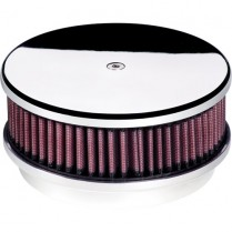 """6-3/8"""" Plain (Smooth) Small Round Polished Air Cleaner"""