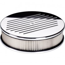 """10"""" Ball Milled Small Round Polished Air Cleaner"""