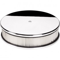 """10"""" Plain (Smooth) Small Round Polished Air Cleaner"""