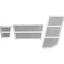 Billet Aluminum Universal Diamond Cut Pedal Kit