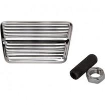 Rectangle Street Rod Brake/Clutch Pedal - Polished