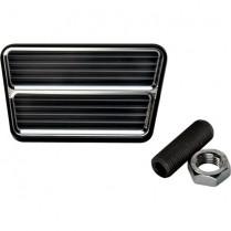 Rectangle Street Rod Brake/Clutch Pedal - Black Anodized