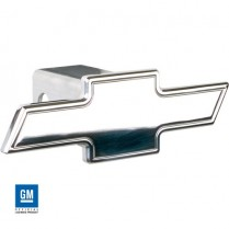 Bowtie Aluminum Hitch Cover, Cutout Style - Polished