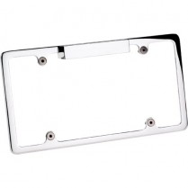 Plain License Plate Frame with Light - Polished