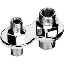 2-Port A/C Bulkhead Screw-On Both Sides - Polished