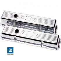 Bowtie Short Valve Covers for SB Chevy - Polished