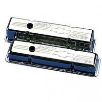 Chevy Power Bowtie Short Valve Covers for SB Chevy - Polish