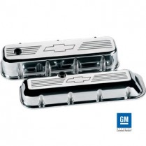 Bowtie Tall Valve Covers for BB Chevy - Polished