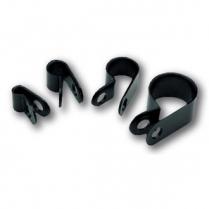 "1/4"" Diameter Black Nylon Clamps - Set of 10"