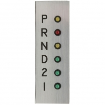 Vertical LED Indicator Plate without Overdrive