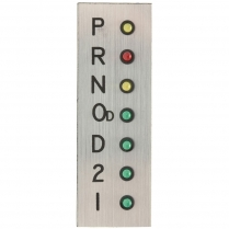 Vertical LED Indicator Plate with Overdrive