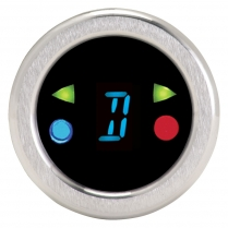 "Round 1-1/2"" Digital Gear Shift Indicator - Blue"