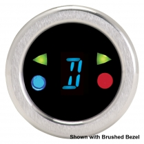 "Round 1-1/2"" Chrome Digital Gear Shift Indicator - Blue"