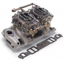 Performer RPM Intake & Two 500cfm Carb 55-86 CBC - Satin