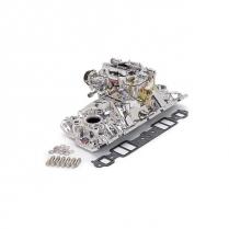 RPM Air-Gap Manifold & Carb BB ChevyRect Port - EnduraShine