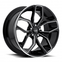 20x10 Foose Outkast Wheel, - 40 Offset, 5x4.5 BP - Black