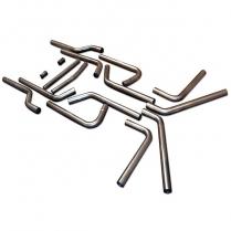 "U-Fit Dual Exhaust Kit Universal 16-Piece Pipe Kit - 2-1/4"""