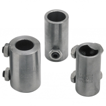 "Coupler, 3/4"" x 3/4-36 1"" OD - Plain Steel"