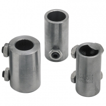 "Coupler, 3/4-36 x 3/4-36 Spline 1-1/4"" OD - Plain Steel"