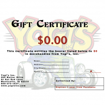 Yogi's Inc, Gift Certificate - $25-$250