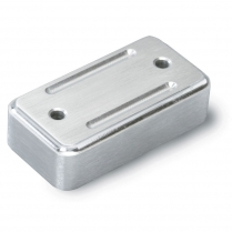 Lokar Rectangular Throttle Spacer - Satin Aluminum