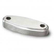Lokar Oval Throttle Spacer - Satin Aluminum