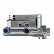 "Dual Reservoir Master Cylinder 1"" Bore Shallow Hole - Polish"