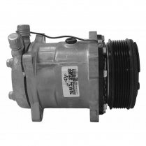 Sanden Style 508 R134 Serp Pulley A/C Compressor - Chrome