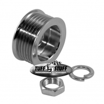 Alternator Pulley for 6 Groove Serpentine - Chrome