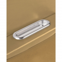 Oval Shaped Arm Rest Door Pulls - Polished
