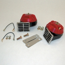 OEM Replacement Horns - Red and Black