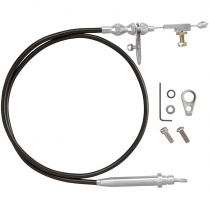 Ford AOD Trans Kickdown Cable with Pol Ends - Black Housing