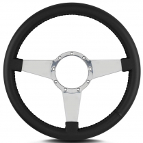 "Mark 4 Standard 14"" Polished Spoke Steering Wheel - Black"