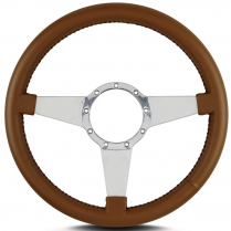 "Mark 4 Standard 14"" Polished Spoke Steering Wheel - Caramel"