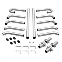 "Stainless Steel Hot Rod Exhaust Kit - 2-1/4"" Diameter"
