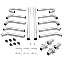 "Stainless Steel Hot Rod Exhaust Kit - 2-1/2"" Diameter"