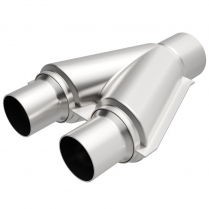 """Exhaust Y-Pipe Dual 2-1/2"""" in and 2-1/2"""" Out - Aluminized"""