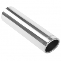 "Exhaust Tip Rolled Edge - 3""x12"" 2-1/2"" - Polished"
