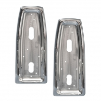1966-67 Nova Polished Taillight Bezels