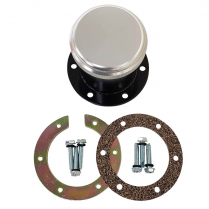 "Bolt-On Fuel Neck & Billet Cap Kit with 2"" Tall Neck"