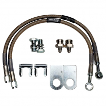"Braided SS Mustang II & Lincoln Versailles 16"" Brake Hoses"