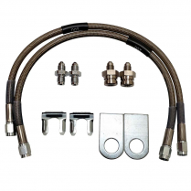 "Braided Stainless Ford Rear Drum 16"" Brake Hoses"