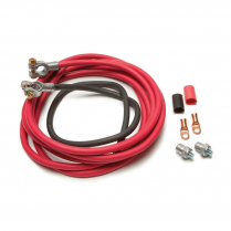 Universal Battery Cable Kit - 16 Ft Red & 3 Ft Black Cables