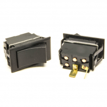 Momentary On Non-Lighted Rocker Switch - Black