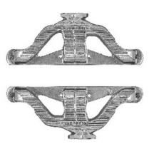 Chevy Small Block Cast Iron Headers - Silver Finish