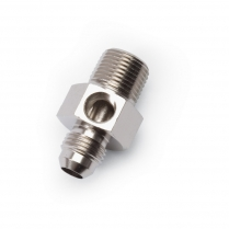 "-6 AN to 3/8"" NPT for 1/8"" NPT Gauge Fitting - EnduraShine"